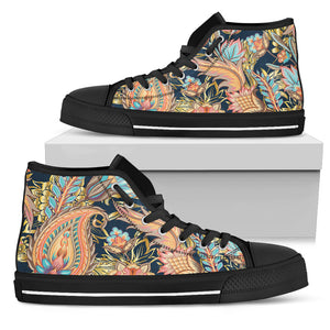 Romantic Paisley Women's High Top Shoes