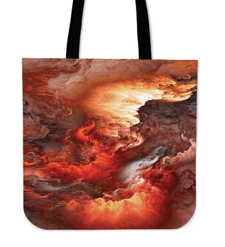 Red Universe Power Cloth Tote Bag