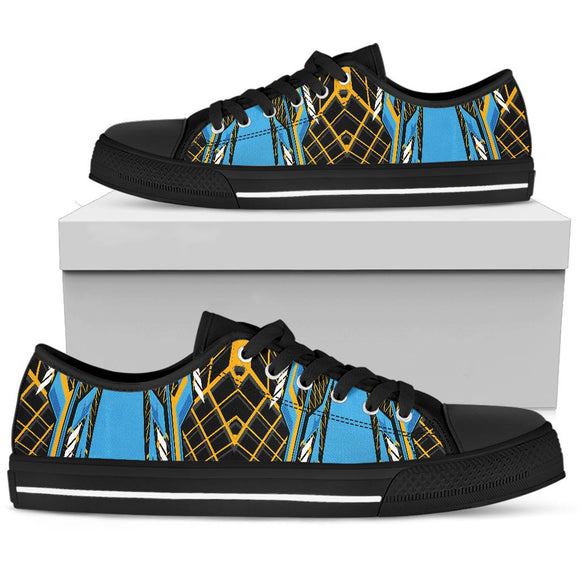 Racing Cosmic Style Blue & Orange Vibes Low Top Shoe