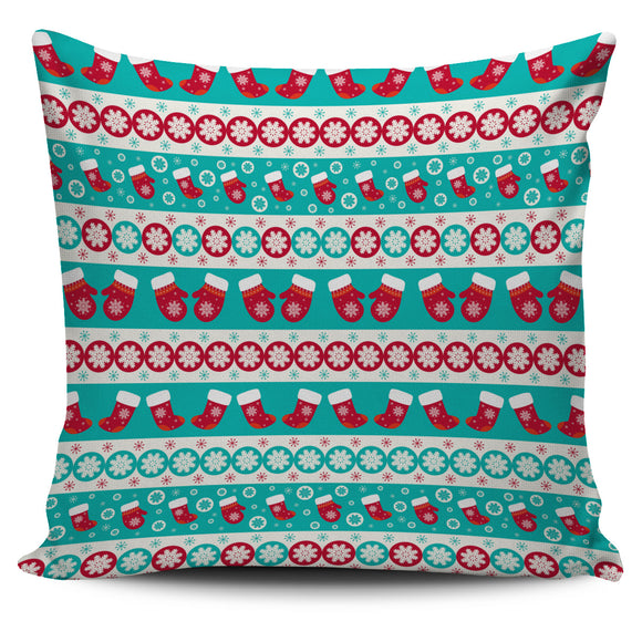 Christmas Light Blue Good Vibes Only Pillow Cover