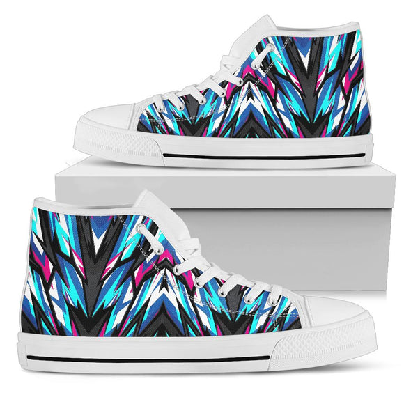 Racing Style Blue & Pink Vibes High Top Shoes