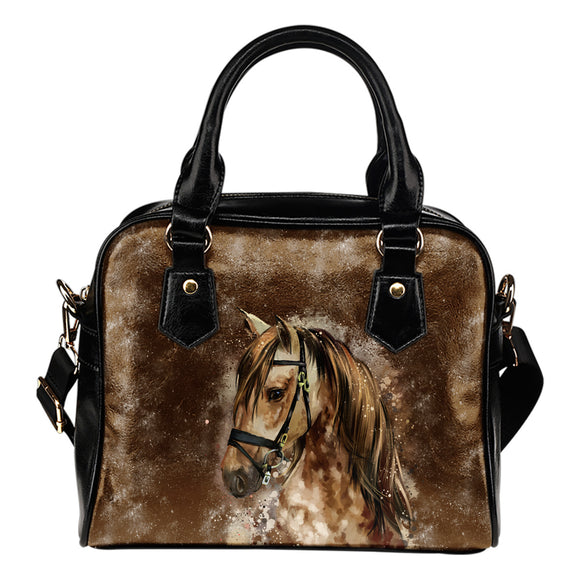 Brown Horse Lovers Shoulder Handbag