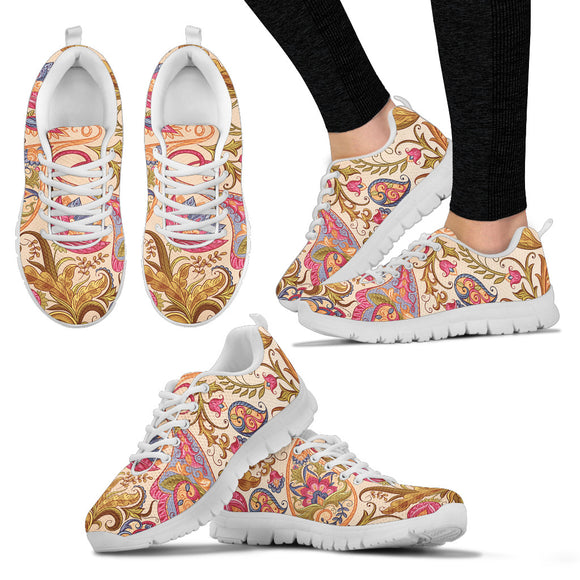 Royal Paisley Women's Sneakers