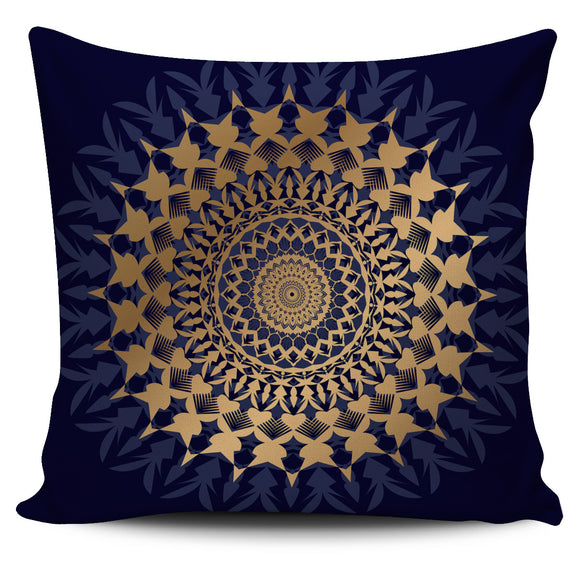 Amazing Blue Mandala Love Pillow Cover
