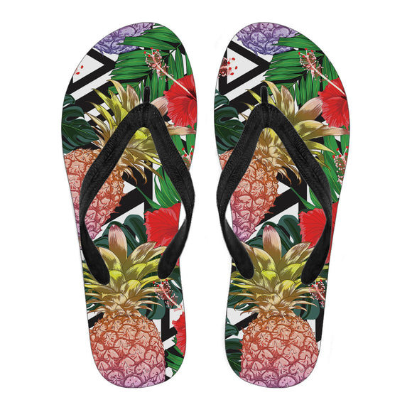 Summer Pineapple Love Men's Flip Flops