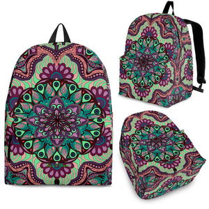 Beautiful Vibes Mandala Design Two Backpack