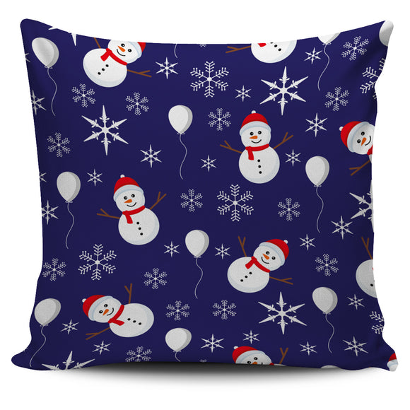 Christmas Blue Good Vibes Only Pillow Cover