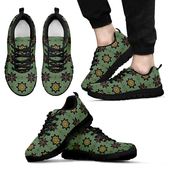 Ornamental Floral Luxury Men's Sneakers
