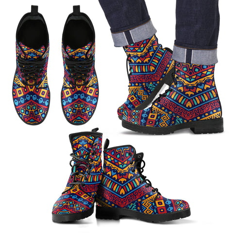 African Modern Style Men's Leather Boots