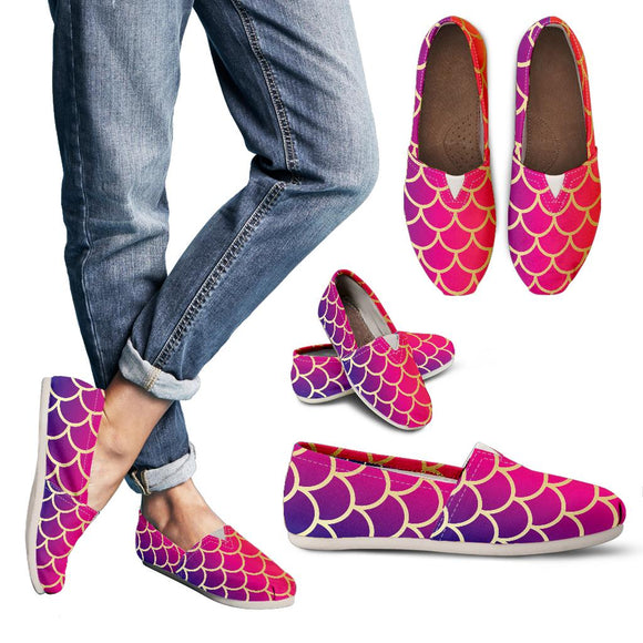 Rainbow Fish Scale Women's Casual Shoes