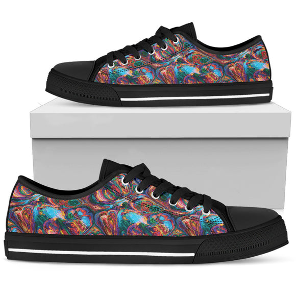 Abstract Oil Paintings Low Top Shoes