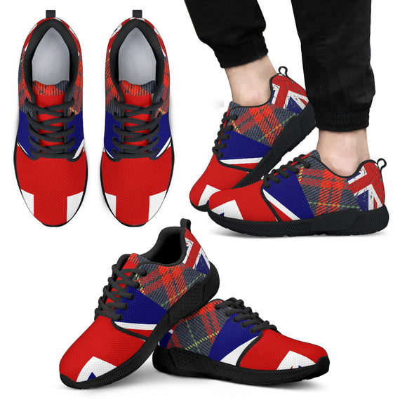 UK Flag Men's Athletic Sneakers