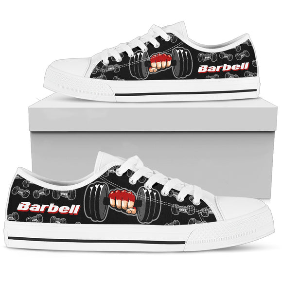 Barbell Black Men's Low Top Shoes