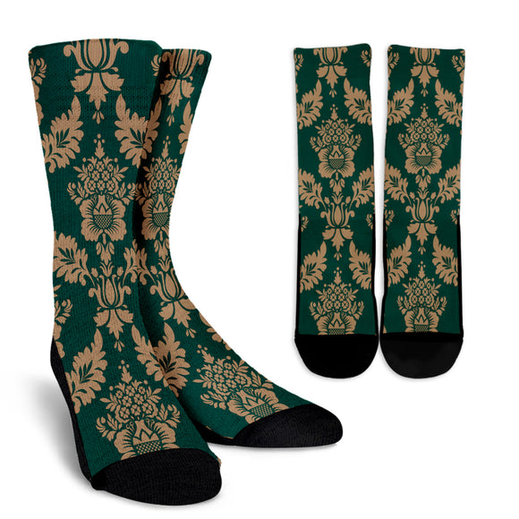 Baroque Sky Crew Socks