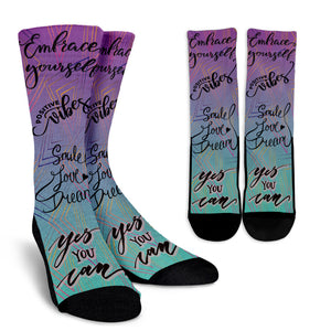 Embrace Yourself Crew Socks