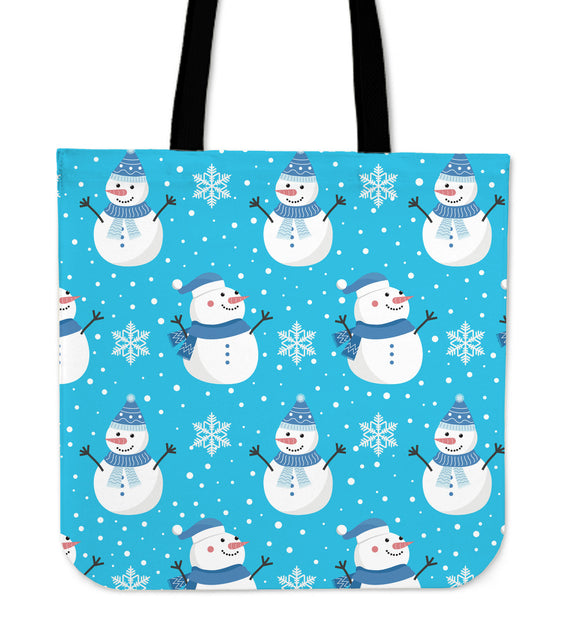 Christmas Perfect Blue Good Vibes Only Cloth Tote Bag