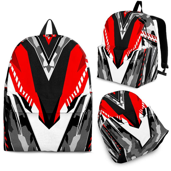 Racing Style Grey & Red Vibe Backpack