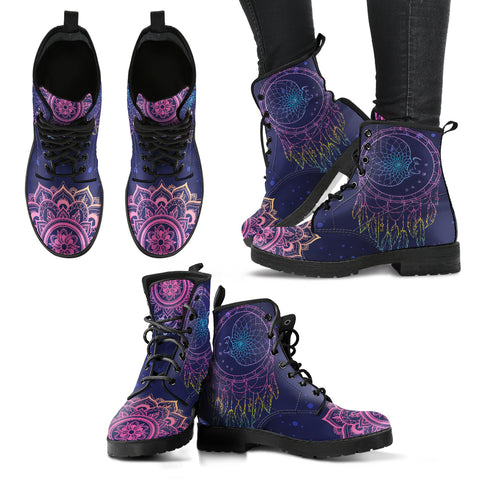 Moon Dream Catcher Handcrafted Boots
