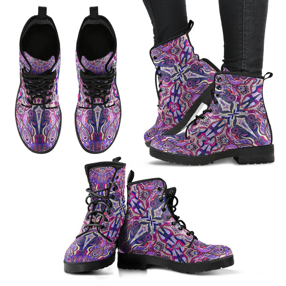 Ornamental Magical Purple Handcrafted Boots