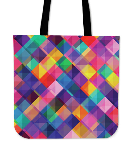 Summer Psychedelic Disco Cloth Tote Bag