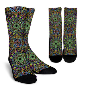 Mandala Boho Luxury Crew Socks