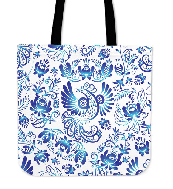 White & Blue Amazing Power of Nature Cloth Tote Bag