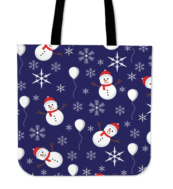 Christmas Blue Good Vibes Only Cloth Tote Bag