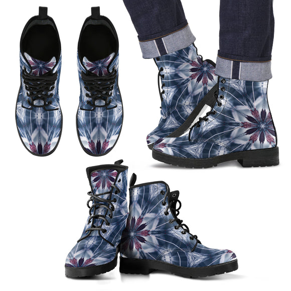 Dangerous Virus Of Love Men's Leather Boots