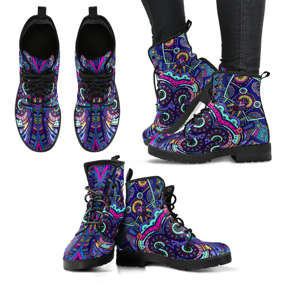 Amazing Purple Night Sky Handcrafted Boots