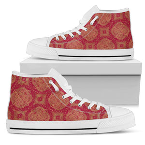 Royal Red Women's High Top Shoes