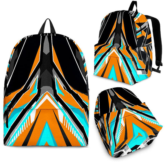 Racing Army Style Wild Orange & Black Vibes Backpack