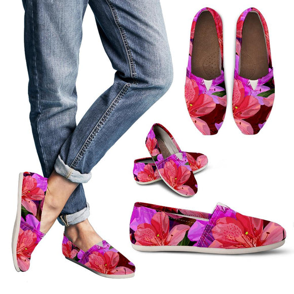Beautiful Pink Flower Azalea Women's Casual Shoes