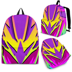 Racing Colorful Style Pink & Purple Vibe Backpack