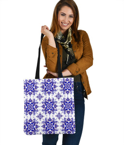 Amazing Traditional White & Blue Ornaments Vibes Three Cloth Tote Bag