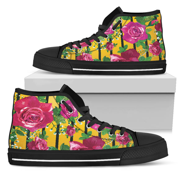 Luxury Rose Women's High Top Shoes