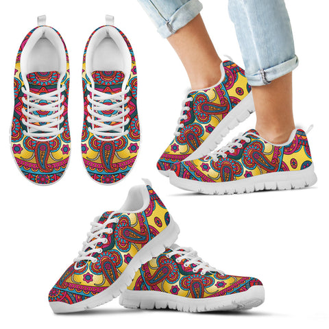 Ornamental Red Magical Dream Kid's Sneakers