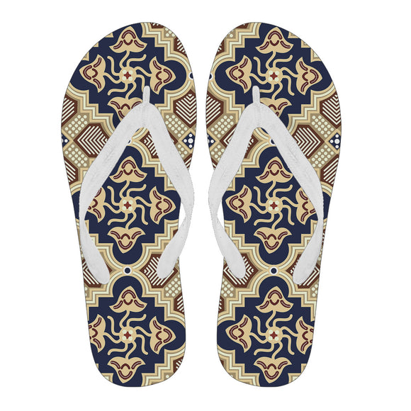 Ornamental Blue Love Women's Flip Flops