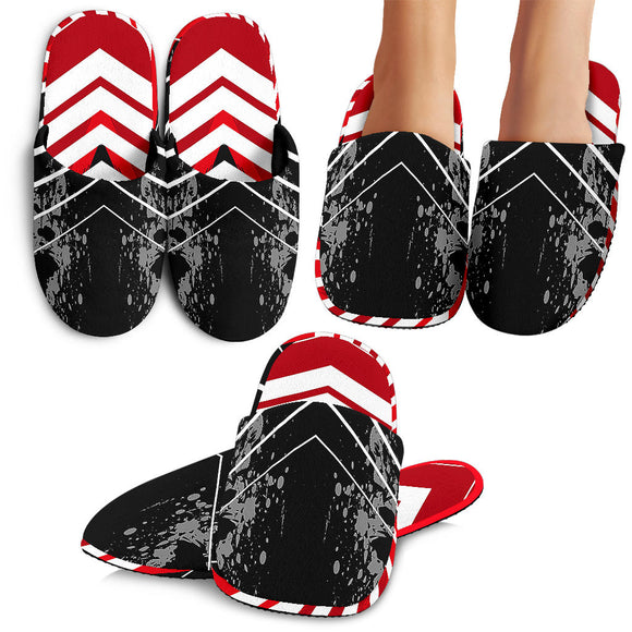 Racing Style Red & Black Stripes Vibes Slippers