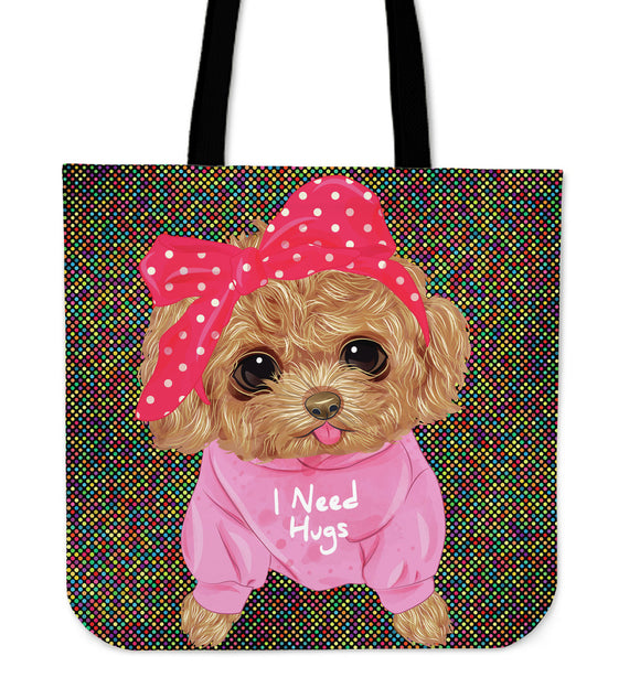 Cute I Need Hugs Cloth Tote Bag