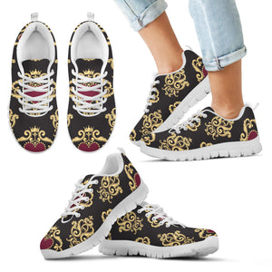 Luxury Royal Hearts Kid's Sneakers