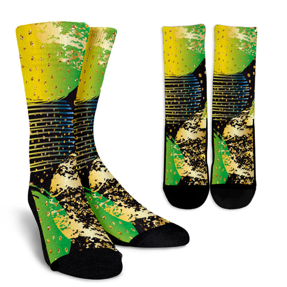Energizing Neon Dots Crew Socks