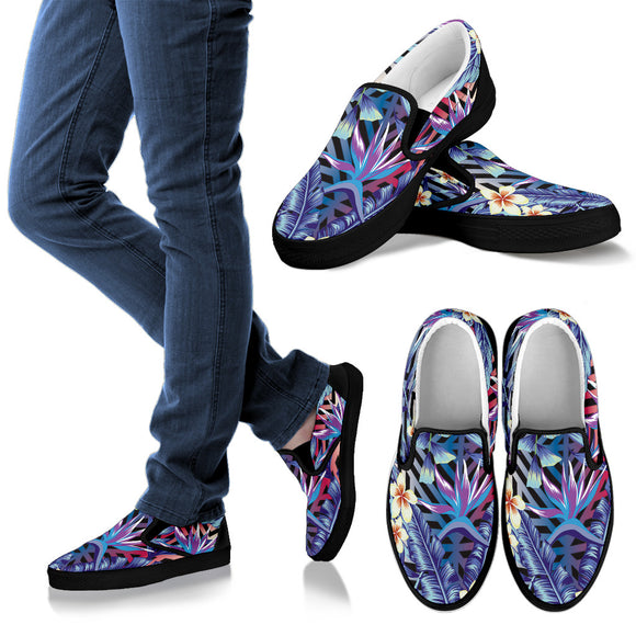 Summer Jungle Love Men's Slip Ons