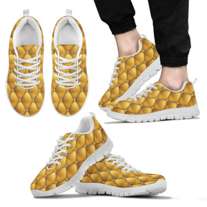 Exclusive Golden Pattern Men's Sneakers