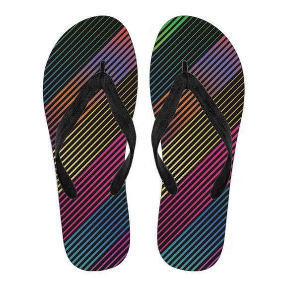 Party Lights On Men's Flip Flops