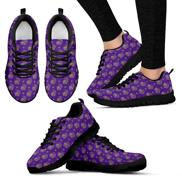 Lucky Purple Elephant Women's Sneakers