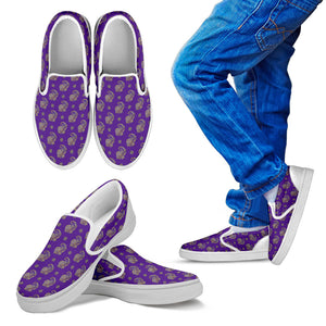 Lucky Purple Elephant Kid's Slip Ons