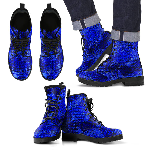 Dangerous Blue Men's Leather Boots