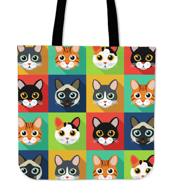 Funny Cat Pattern Cloth Tote Bag