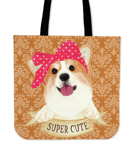 Cute Super Corgi Cloth Tote Bag