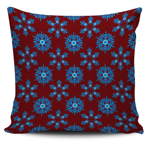 Christmas Lovely Blue Good Vibes Only Pillow Cover
